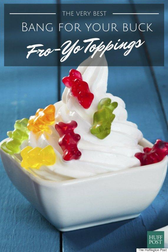 Cups Frozen Yogurt Toppings