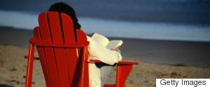 WOMAN BOOK BEACH