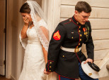 Viral Wedding Photo Of A Marine Praying With His Soon-To-Wife Will Move You