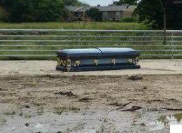 Houston Cyclist Finds Dead Body In Casket During Morning Ride