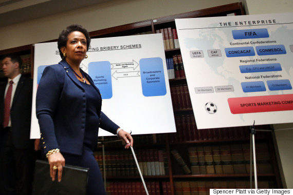 U.S. Attorney General Loretta Lynch discusses the investigation during a  press conference on Wednesday.
