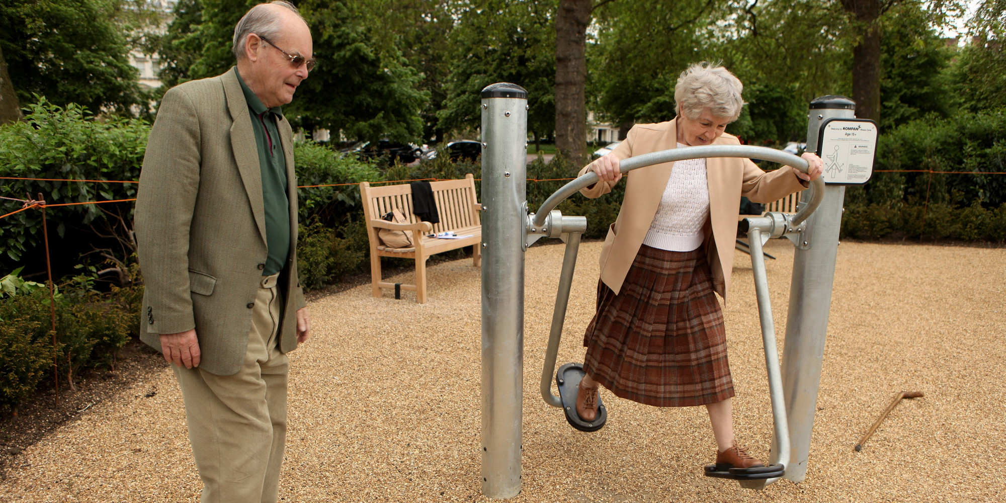 Playgrounds for seniors improve fitness reduce isolation