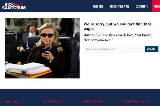 santorum 404 page