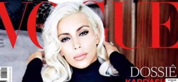 Kim K Does Her Best Marilyn Impression For Vogue