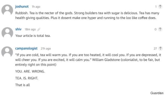 guardian tea article comments