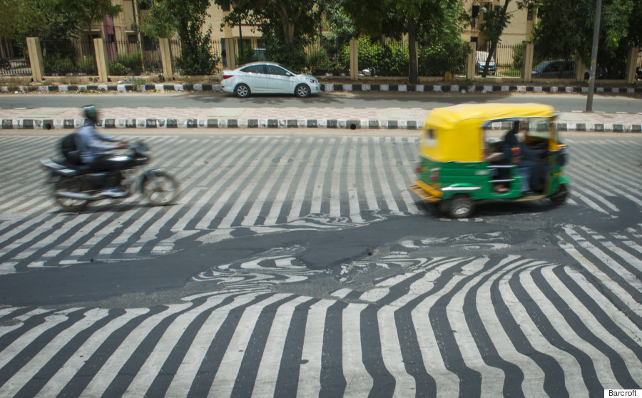 melting roads in india