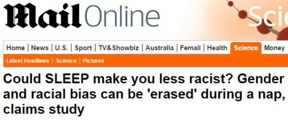mail online sleep makes you less racist