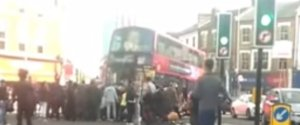 CYCLIST HIT BUS BUS
