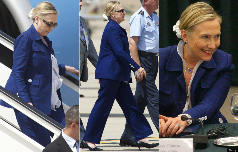 Images Hillary Clinton Breaks Out The Scrunchie (PHOTOS, POLL) 1 Hillary Clinton Scrunchie