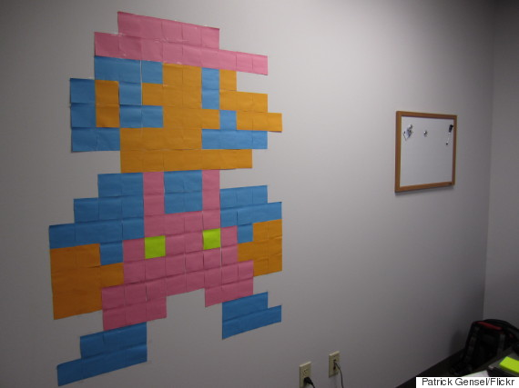 postit note art