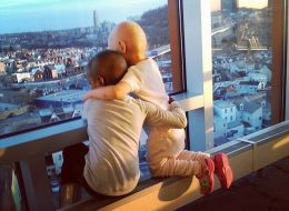 Mom Captures Beautiful Moment Between Little Girls Battling Cancer Together
