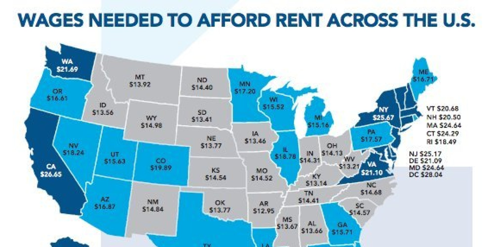 This is the hourly wage you need to afford a 2 bedroom - Average rent for 2 bedroom apartment ...