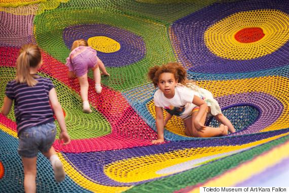 knitted playground