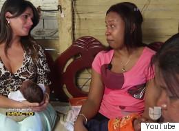 Bárbara visita a una madre de quintillizos que vive en la extrema pobreza