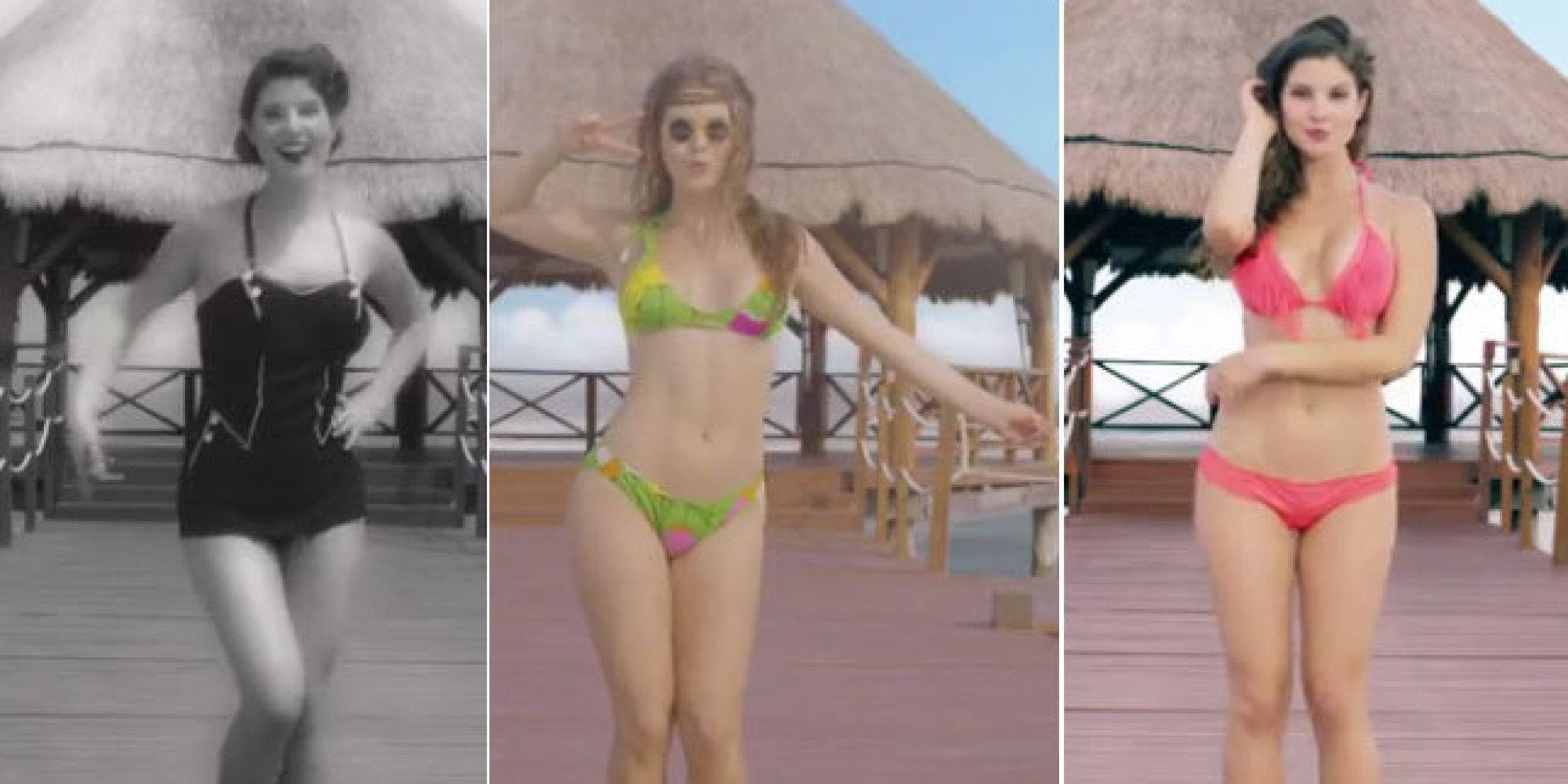Bikini cayendo de las historias