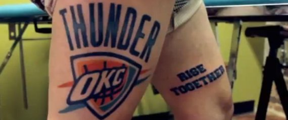 OKLAHOMA CITY THUNDER TATTOO