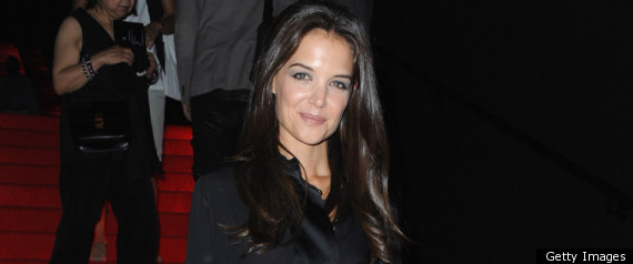 Katie Holmes Sits Front Row At The Armani Prive Couture Show