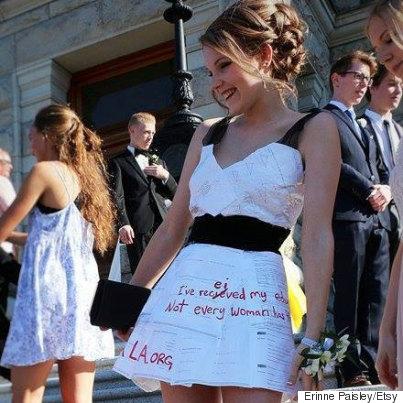 paper grad dress