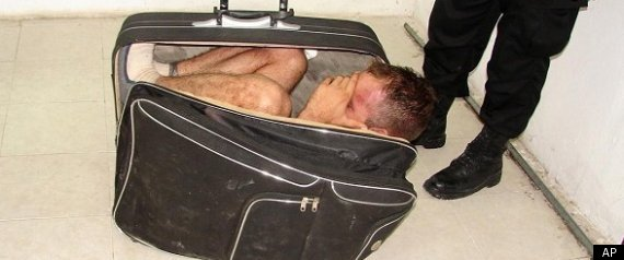 Man Inside Suitcase
