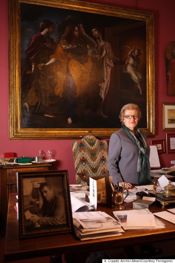 wanda ferragamo in her office