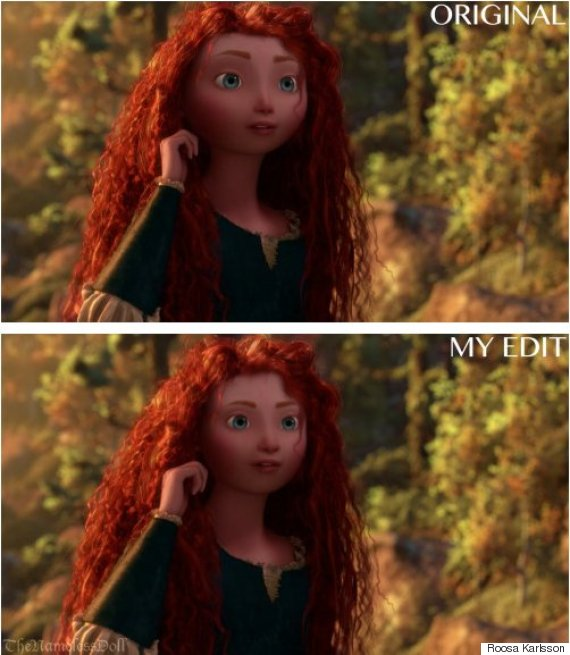 merida realistic face