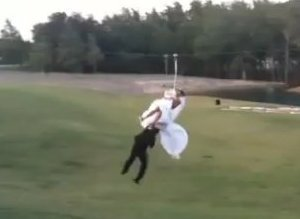 Zipline Wedding Crash