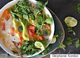 The Yummiest Tom Yum Veggie Soup Ever