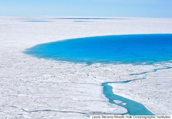 glacial lakes draining