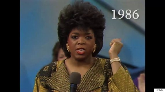 25 Years Of Oprah S Hairstyles In Just 2 Minutes Huffpost