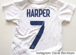 Harper Beckham Receives Adorable England Football Kit