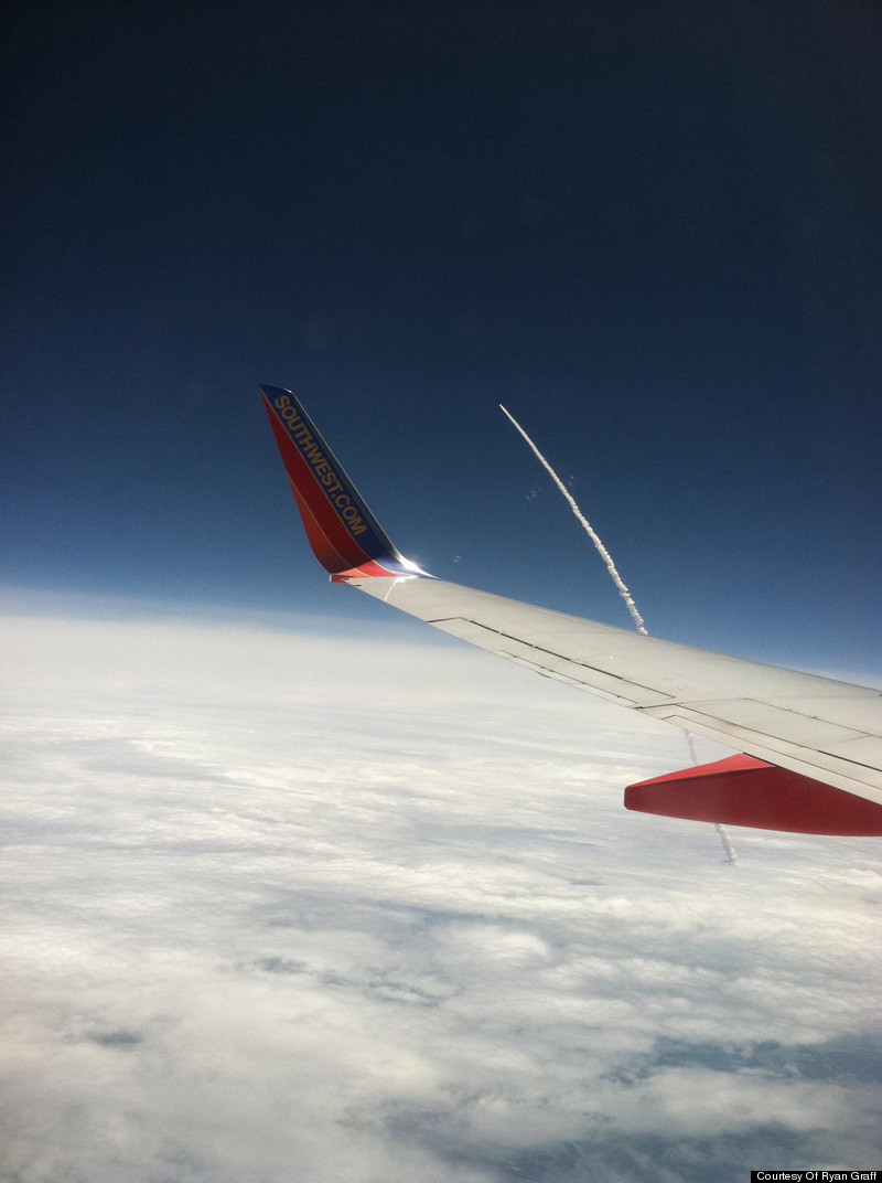 Atlantis Space Shuttle Launch Seen From Airplane Window ...