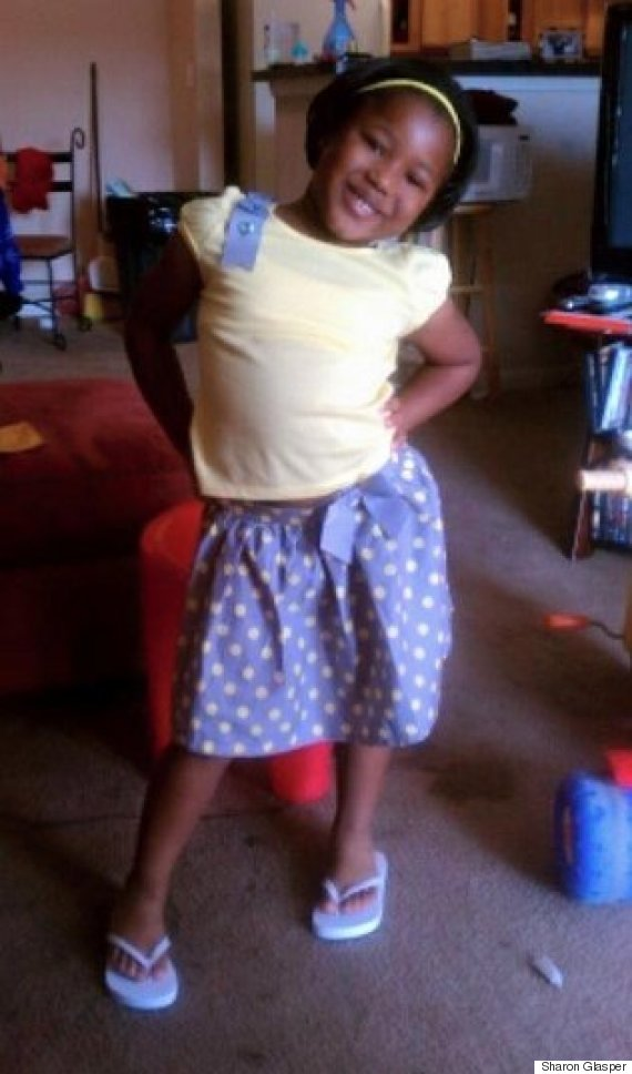 Little black girl naked