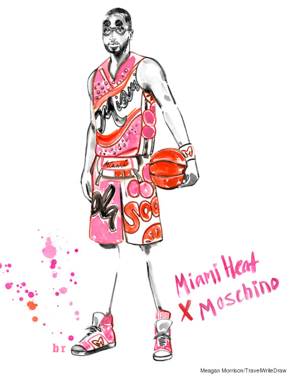 28fcae03274 From Miami Heat uniforms by Moschino to Oklahoma City Thunder kits by  Balmain, 10 NBA teams received the custom designer treatment in the awesome  series of ...