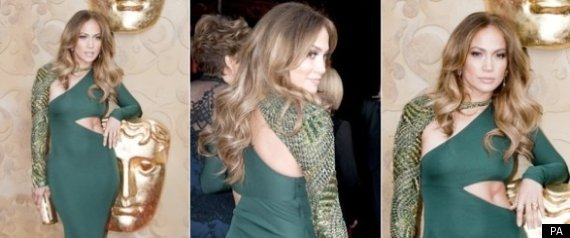 JENNIFER LOPEZ CUTOUT GOWN