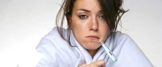 donna con la febbre
