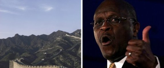 HERMAN CAIN GREAT WALL ALLIGATOR FILLED MOAT