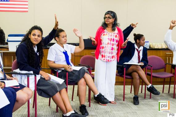 indrani goradia addressing students