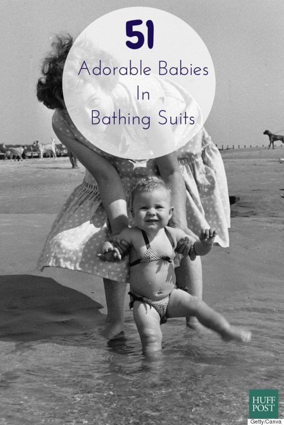 babies in bathing suits