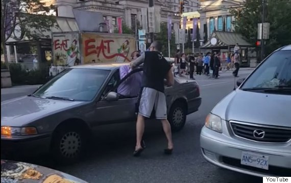 choking road rage vancouver