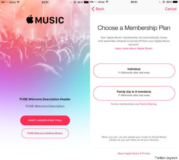 apple music prices