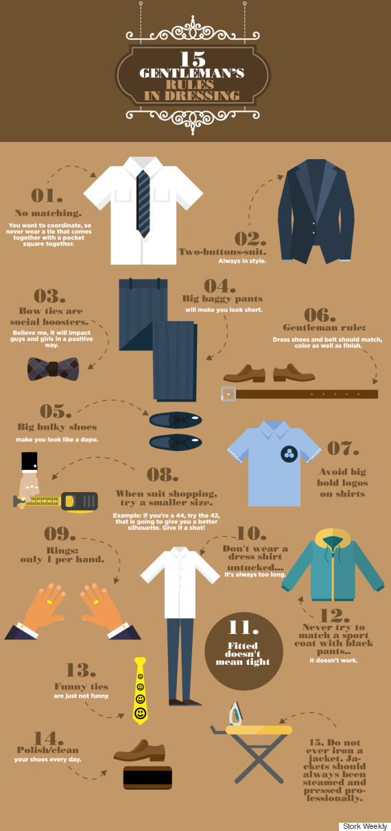 This infographic solves men 39 s fashion problems once and for all huffpost - Tips dressing ...