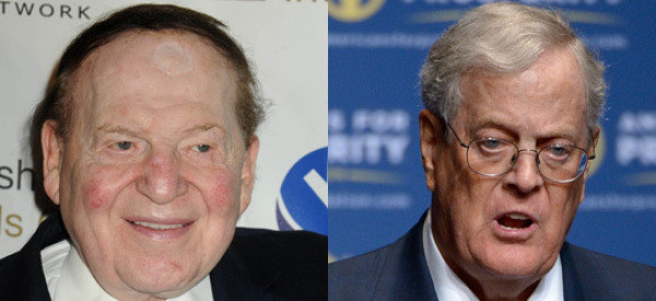 sheldon adelson and david koch