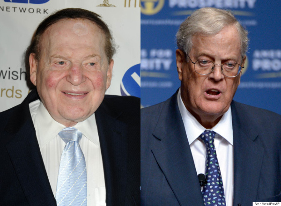 Charles David Koch We Know Who You Are >> Watch Out Dems Sheldon Adelson And The Koch Brothers Are Closer