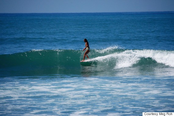 meg roh surfing
