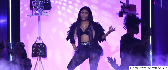 Nicki Minaj Breast At Fashion Show