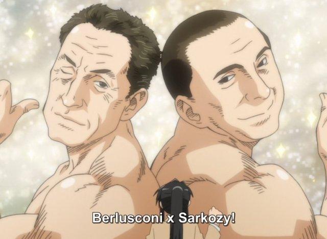 Sarkozy et Berlusconi en couple dans Genshiken Nidaime