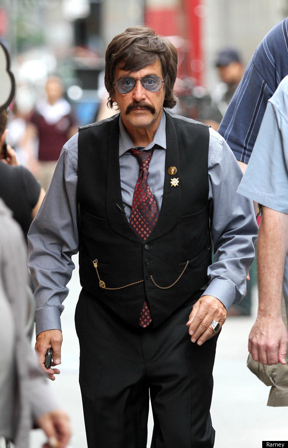 On Monday, Pacino was seen in full eccentric Spector getup, filming a scene ...