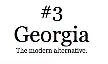 georgia - Best Fonts For Resume