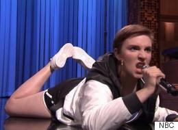 Lena Dunham And Jimmy Fallon Battle For Lip Sync Glory