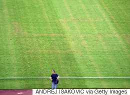 Swastika Appears On Football Pitch In The Middle Of A Match